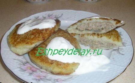 Драники с мясом (колдуны)