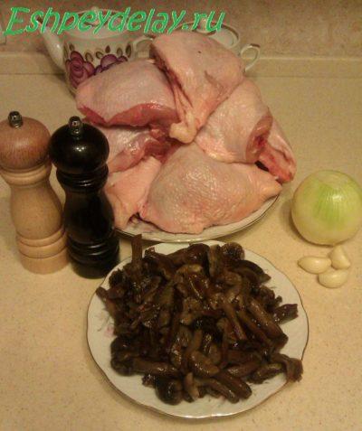 Рецепт куриных рулетиков с грибами