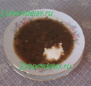 суп из сухих грибов