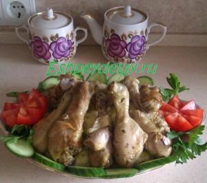 Голень курицы в духовке
