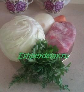 рецепт свежей капусты тушеной с мясом
