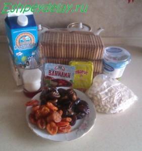 рецепт торта из печенья, творога и сметаны