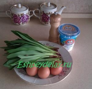 рецепт салата из черемши с яйцом