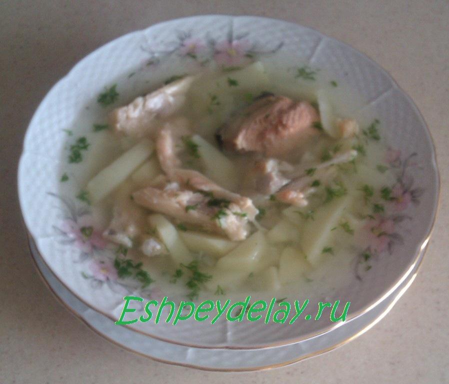 рецепт супа из рыбных консервов с семгой