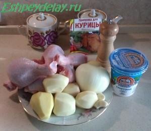 рецепт куриных голеней с картошкой