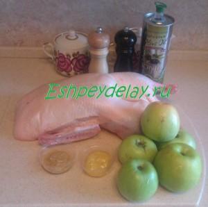 Рецепт утки с яблоками в духовке