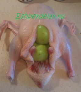 утка фаршированная яблоками