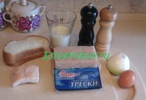 Рецепт котлет из трески