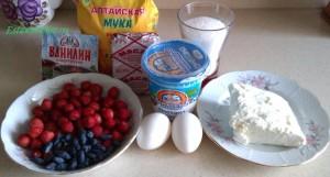 Рецепт корзиночек с творожным кремом и ягодой