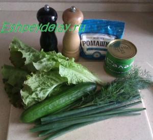 Рецепт салата из морской капусты с огурцом
