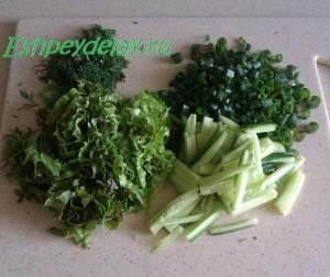 огурец лук салат