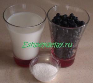 Рецепт черники с молоком
