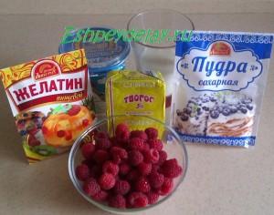 Рецепт творожного десерта с малиной