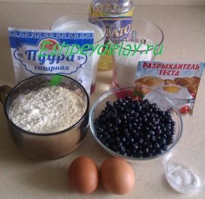Рецепт маффинов с черникой