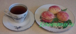 печенье персики с чаем