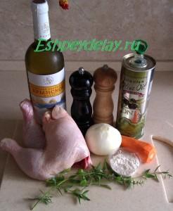 Рецепт курицы в винном соусе