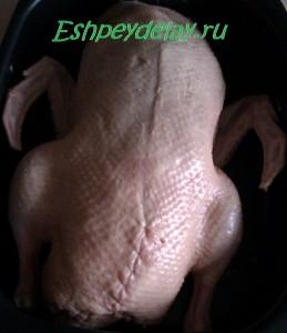 утка готова к запеканию в духовке