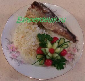 Красноглазка в духовке с рисом