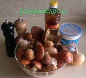 Рецепт грибов тушеных в сметане