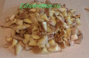 кусочки грибов