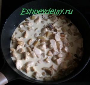 куриная грудка грибы сливки