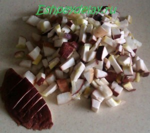 грибы порезанные кубиками