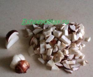 порезаные грибы