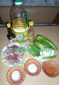 Рецепт китайского салата с мясом и огурцами