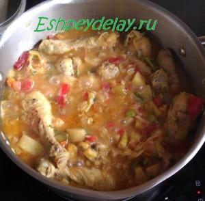 куриное овощное рагу