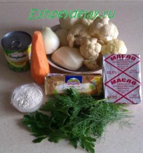 рецепт сырного супа с цветной капустой