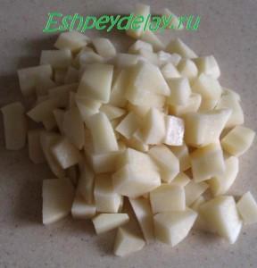 картошка нарезанная кубиками