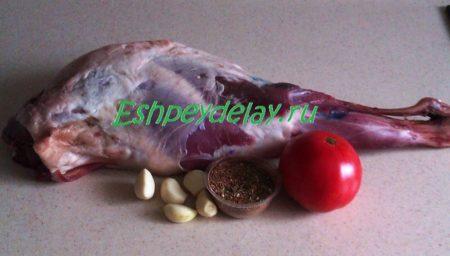Рецепт бараньей ноги запеченной в фольге