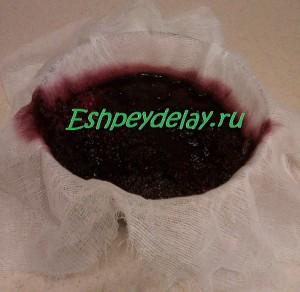 черноплодная рябина отжатая через марлю