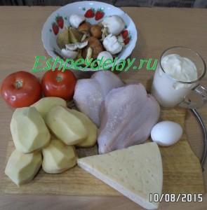 Рецепт запеканки из картофеля с грибами