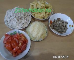 продукты для запеканки из картофеля с грибами