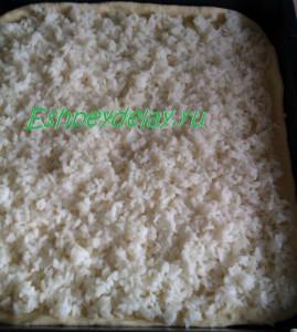 рис на тесете