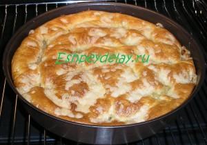 Сахарный пирог со сливками в духовке