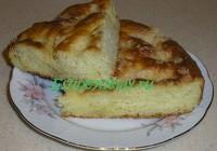 Сахарный пирог со сливкаами