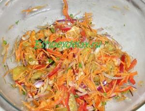 острый салат из баклажанов по корейски