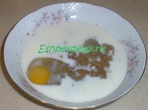 икра карася с молоком и яйцом