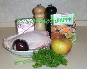 Рецепт куриной грудки с яблоком