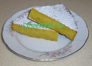 Вкусный и простой пирог из тыквы