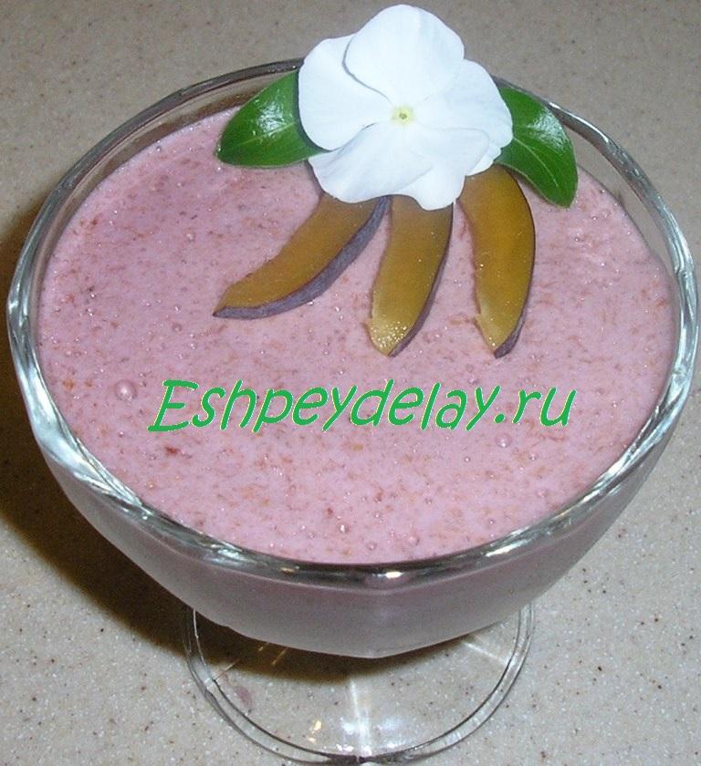десерт самбук из слив