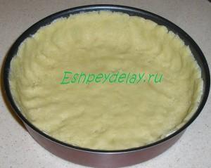 тесто на форме для выпечки