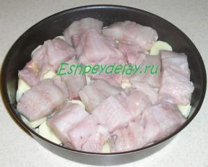 терпуг с картошкой в форме для запекания в духовке