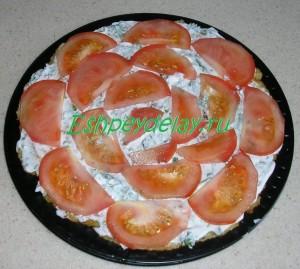 нижний слой торта из кабачков