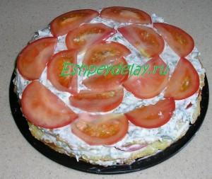 второй слой торта из кабачков