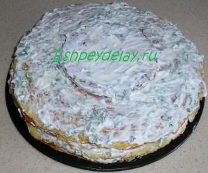 верхний слой торта из кабачков