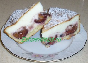 страсбургский пирог со сливами и творогом