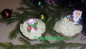 Новогодние творожные капкейки